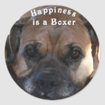 Boxer:  Happiness is a Boxer Sticker