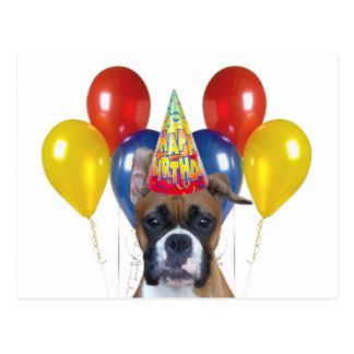 Boxer happy birthday Postcard