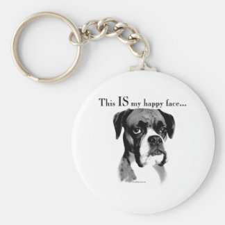 Boxer Happy Face Keychains