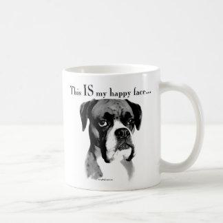 Boxer Happy Face Coffee Mug