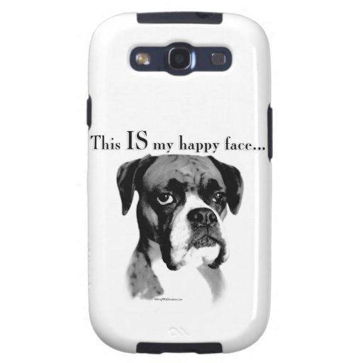 Boxer Happy Face Samsung Galaxy S3 Cover