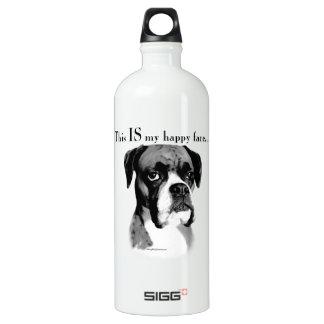 Boxer Happy Face Water Bottle
