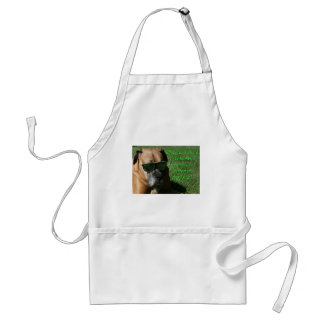 Boxer:  Hard to be Humble Adult Apron