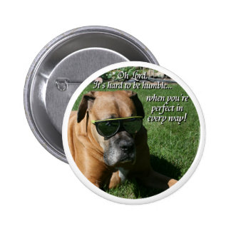 Boxer:  Hard to be Humble Pinback Button