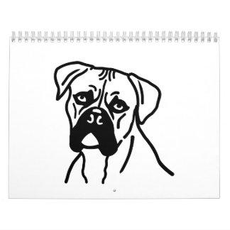 Boxer head wall calendar