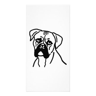 Boxer head picture card