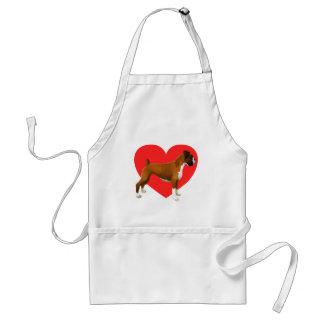 Boxer Heart Adult Apron