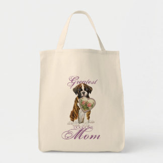 Boxer Heart Mom Tote Bag