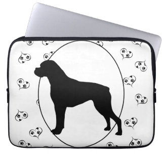 Boxer Hearts and Paw Prints Laptop Sleeve