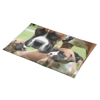 Boxer - Helicopter Mom Cloth Placemat