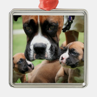 Boxer - Helicopter Mom Christmas Tree Ornaments