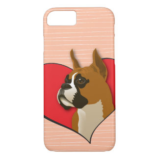 Boxer in a heart iPhone 7 case
