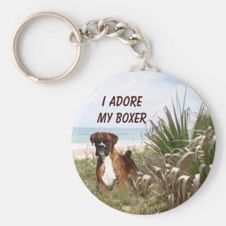 Boxer In Beachgrass Keychain