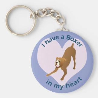 Boxer In My Heart Keychain