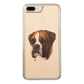 Boxer in Portrait Carved iPhone 7 Plus Case