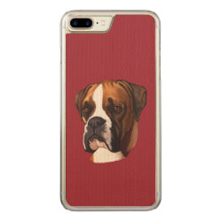 Carved Apple iPhone 7 Plus Wood Case with Boxer Phone Cases design