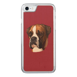 Carved Apple iPhone 7 Wood Case with Boxer Phone Cases design