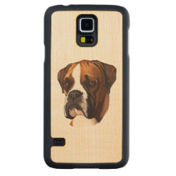 Carved ® Samsung Galaxy S5 Slim Wood Case with Boxer Phone Cases design