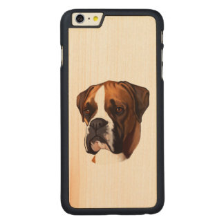 Boxer in Portrait Carved Maple iPhone 6 Plus Slim Case