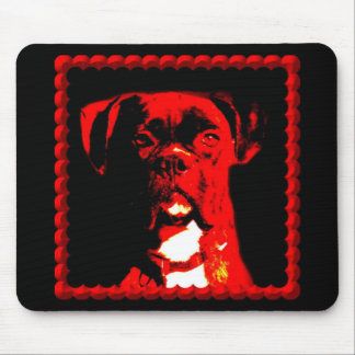 Boxer in Red Mousepad