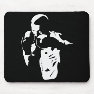 Boxer In The Shadows Mouse Pad