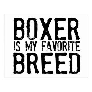 Boxer Is My Favorite Breed Postcard