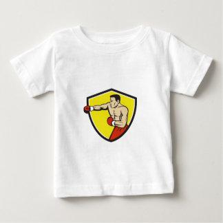 Boxer Jabbing Punching Crest Cartoon Baby T-Shirt