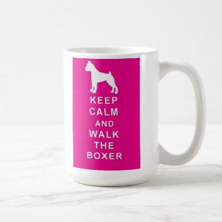 Boxer Keep Calm Walk the Boxer Mug Birthday