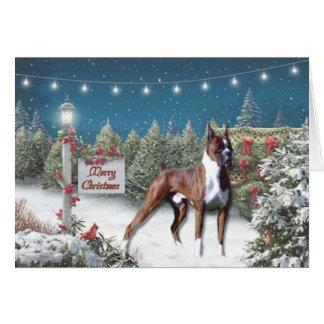 Boxer Lane Christmas Greeting Card