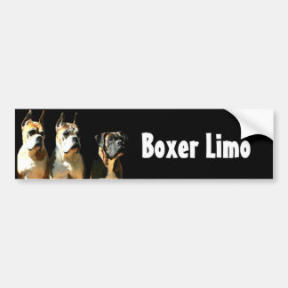 Boxer limo bumper sticker car bumper sticker