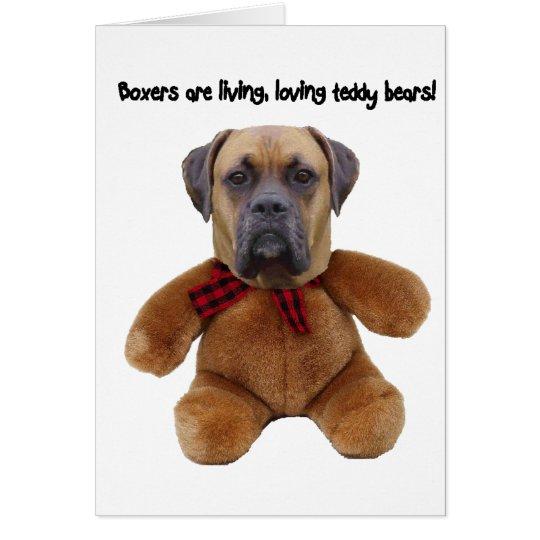 Boxer: Living, Loving Teddy Bears Card