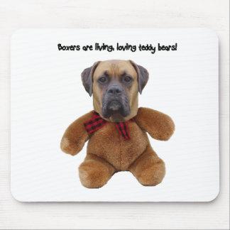 Boxer: Living, Loving Teddy Bears Mouse Pad