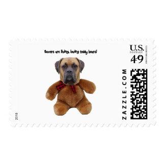 Boxer: Living, Loving Teddy Bears Postage