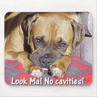 Boxer:  Look Ma, No Cavities Mouse Pad