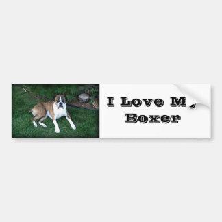 Boxer Love Bumper Sticker