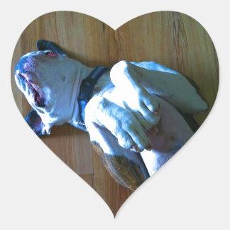 Boxer Love Heart Sticker
