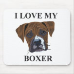 Boxer Love Mouse Pads