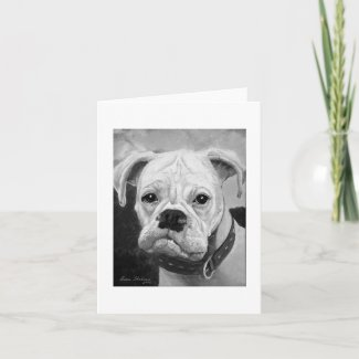 Boxer Love Notecard card