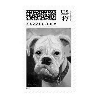 Boxer Love Postage Stamp Med