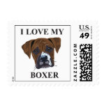 Boxer Love Postage Stamps
