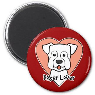 Boxer Lover 2 Inch Round Magnet