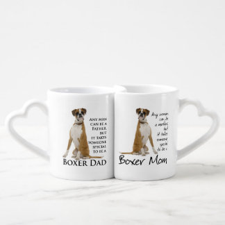 Boxer Lover Mom and Dad Mugs