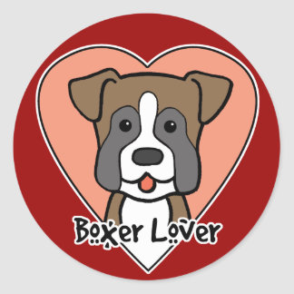 Boxer Lover Stickers