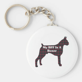 Boxer Lovers Gifts Keychain