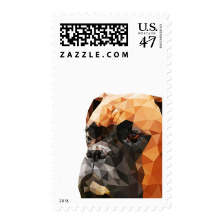 Boxer Low Poly Art Postage
