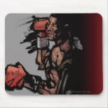 Boxer lying down mouse pad