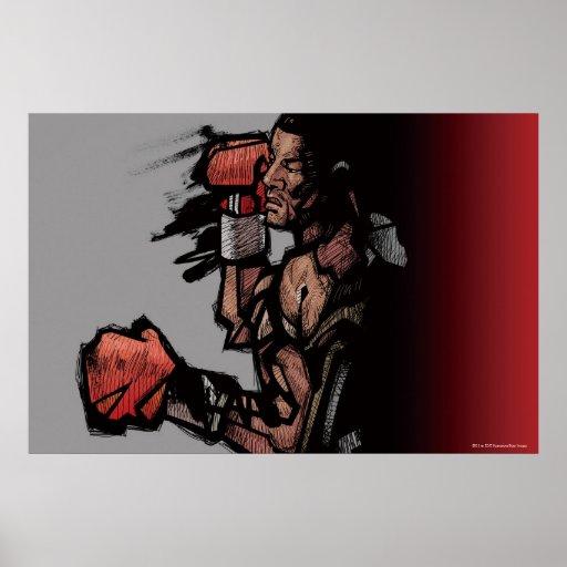 Boxer lying down print