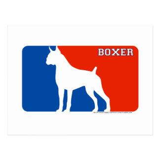 Boxer Major League Dog Postcard