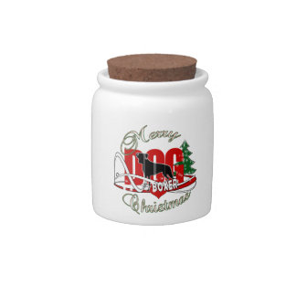 BOXER MERRY CHRISTMAS CANDY JARS