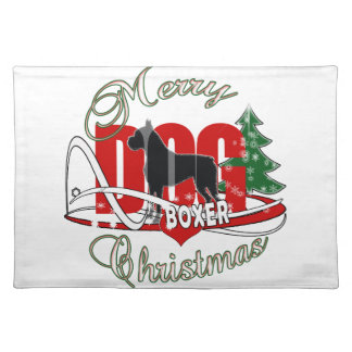 BOXER MERRY CHRISTMAS CLOTH PLACEMAT